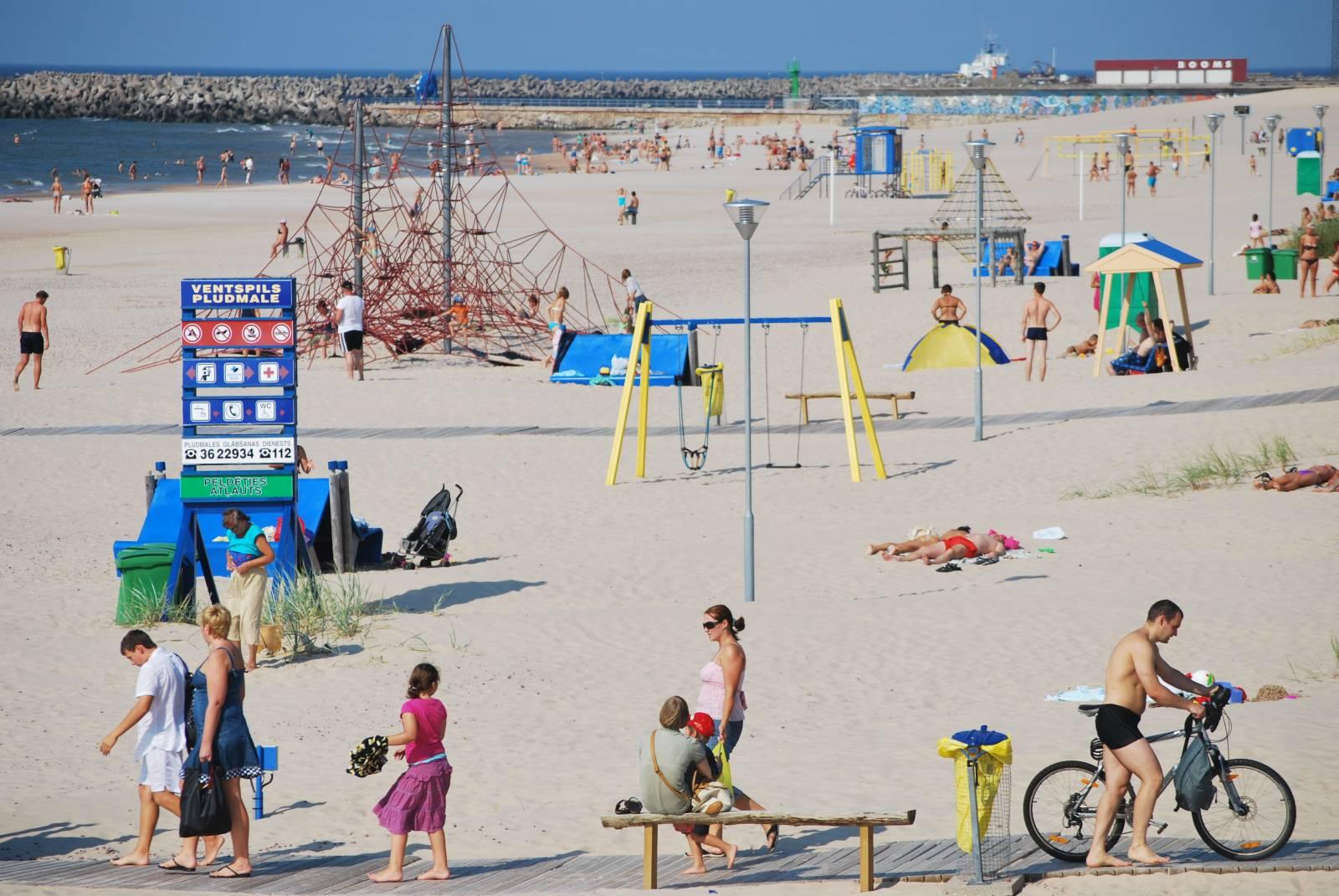 Смотреть фото Вентспилсский пляж